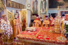 He celebration of Easter in the Russian Orthodox Church on 12 April 2015. Stock Photography