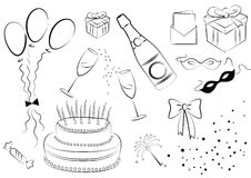 Celebration elements.Vector Stock Image