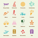 Celebration elements. Vector infographic icons Royalty Free Stock Photos