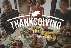Celebration Family Thanksgiving Friendship Fun stock image