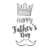 Celebration of father day hand draw. Vector illustration Royalty Free Stock Photography