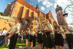 Celebration the Feast of Corpus Christi in Krakow Stock Photo