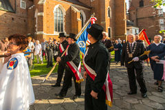 Celebration the Feast of Corpus Christi in Krakow Stock Images