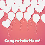 Celebration festive background with balloons.Perfect for invitat. Ions,posters and cards Stock Photos