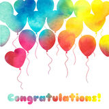 Celebration festive background with balloons. Perfect for invitations,posters and cards Stock Photography