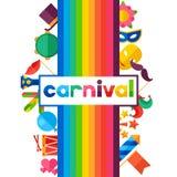 Celebration festive background with carnival flat Royalty Free Stock Photo