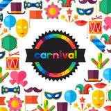 Celebration festive background with carnival flat Stock Photos