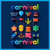 Celebration festive background with carnival flat Stock Photo