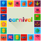 Celebration festive background with carnival flat Stock Image
