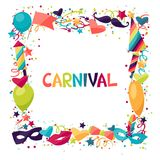Celebration festive background with carnival icons Stock Photo