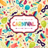 Celebration festive background with carnival icons. And objects Stock Image