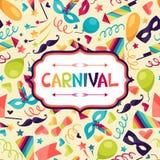 Celebration festive background with carnival icons Stock Image