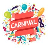 Celebration festive background with carnival icons Stock Photo