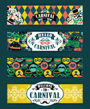 Celebration festive background with carnival icons and objects. Vector Design Templates Collection for Banners, Flyers and other use Royalty Free Stock Images