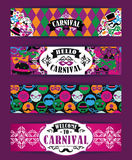 Celebration festive background with carnival icons and objects. Vector Design Templates Collection for Banners, Flyers and other use Stock Image