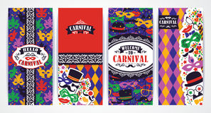 Celebration festive background with carnival icons and objects. Vector Design Templates Collection for Banners, Flyers, Placards, Posters and other use Stock Photography