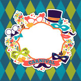 Celebration festive background with carnival icons and objects. Vector illustration Stock Photo