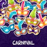 Celebration festive background with carnival masks Stock Photo