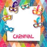 Celebration festive background with carnival masks Stock Image