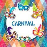 Celebration festive background with carnival masks Royalty Free Stock Photo