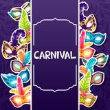 Celebration festive background with carnival masks Stock Photos
