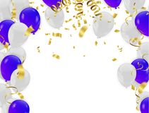 Celebration festive background with confetti and carnival object. S. vector illustrations Royalty Free Stock Images