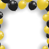Celebration festive gold and black balloons. Vector Illustration Royalty Free Stock Photo