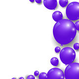 Celebration festive purple balloons background. Vector Illustration Royalty Free Stock Photo