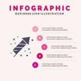 Celebration, Festivity, Fireworks, Holiday Solid Icon Infographics 5 Steps Presentation Background vector illustration