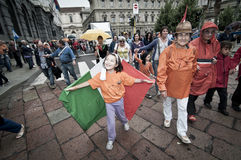 Celebration of festivity of republic in Milan Royalty Free Stock Photography