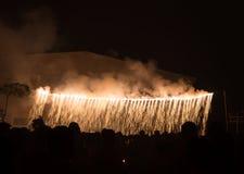 Celebration firecracker light falls. Festival Royalty Free Stock Photography