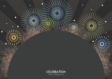 Celebration Firework Colors Background. Celebration firework colors for background in vector Royalty Free Stock Image