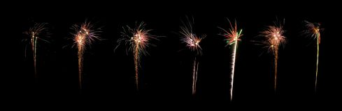 Celebration firework panorama Royalty Free Stock Images