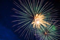 Celebration fireworks stock image