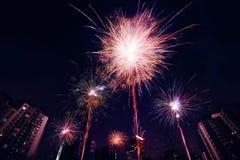 Celebration of fireworks Royalty Free Stock Images