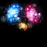 Celebration with fireworks Royalty Free Stock Photos