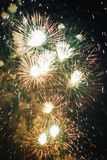 Fireworks at New Year Royalty Free Stock Photos