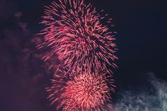 Fireworks at New Year Stock Photography