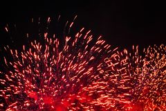 Fireworks at New Year. Celebration Fireworks at New Year Royalty Free Stock Photo