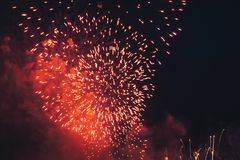 Fireworks at New Year Royalty Free Stock Photography