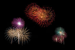 Celebration fireworks Stock Photo