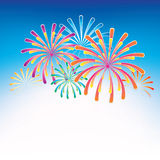Celebration fireworks Stock Photography