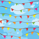 Celebration flags Royalty Free Stock Image