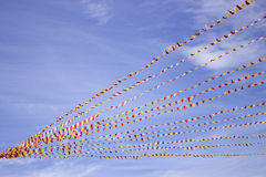 Celebration flags on rope Royalty Free Stock Photo