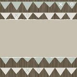 Celebration flags torn scrapbook background Royalty Free Stock Image