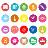 Celebration flat icons on white background Stock Photos