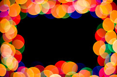 Celebration frame. Light spot frame on black Royalty Free Stock Photography