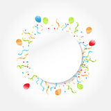 Celebration frame Stock Image