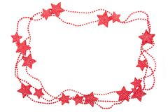 Celebration frame with shiny stars Royalty Free Stock Images