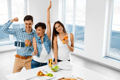 Celebration. Friends Having Fun, Taking Selfie, Celebrating. Fri Stock Photos